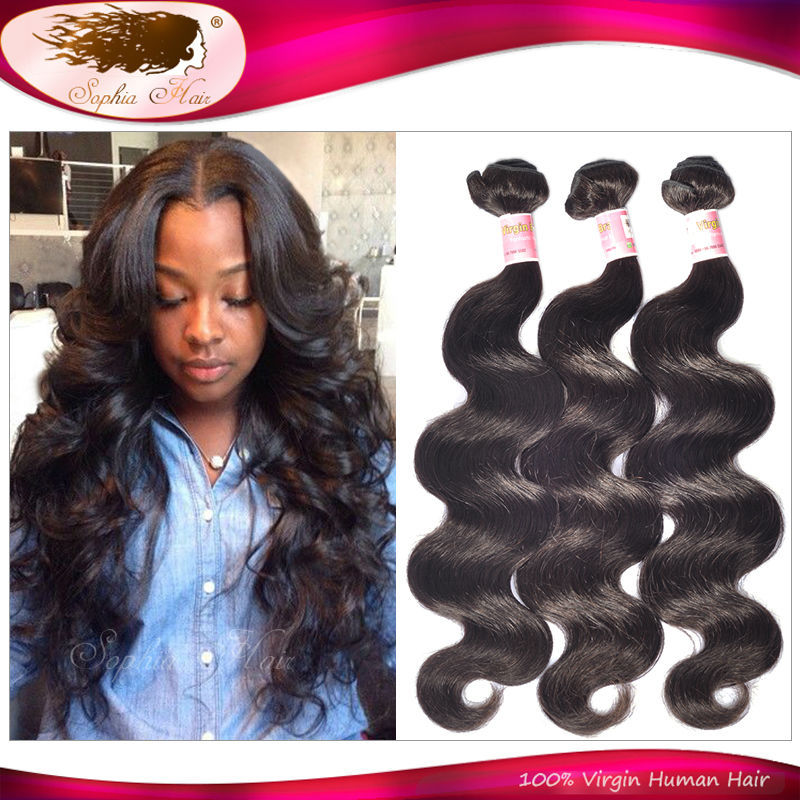 6A Queen Hair Products Brazilian Virgin Hair Body Wave Brazilian Hair Extension Weave 10~40 Unprocessed Human Hair 3pcs/lot<br><br>Aliexpress