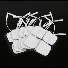 20 peça Electrode Pads dizaines électrodes pour des dizaines numérique thérapie Machine de massage 4 x 4 cm stimulateur du nerf avec 2 mm Plug(China (Mainland))