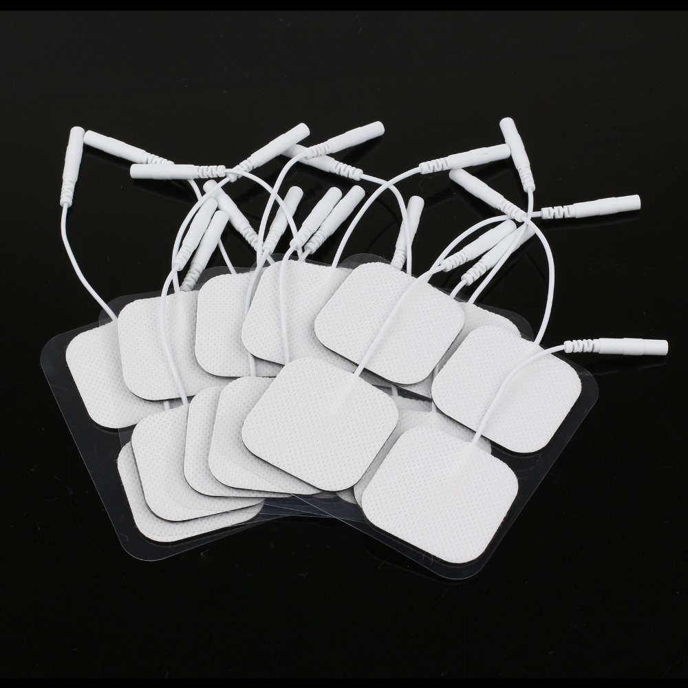 20 Piece Electrode Pads Tens Electrodes for Tens Digital Therapy Machine Massager 4x4cm Nerve Stimulator with 2mm Plug(China (Mainland))