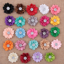 Buy Wholesale 500pcs/lot Small Polyester Ribbon Flower DIY Satin Flower Headbands Wedding Party Hair Accessories for $85.00 in AliExpress store