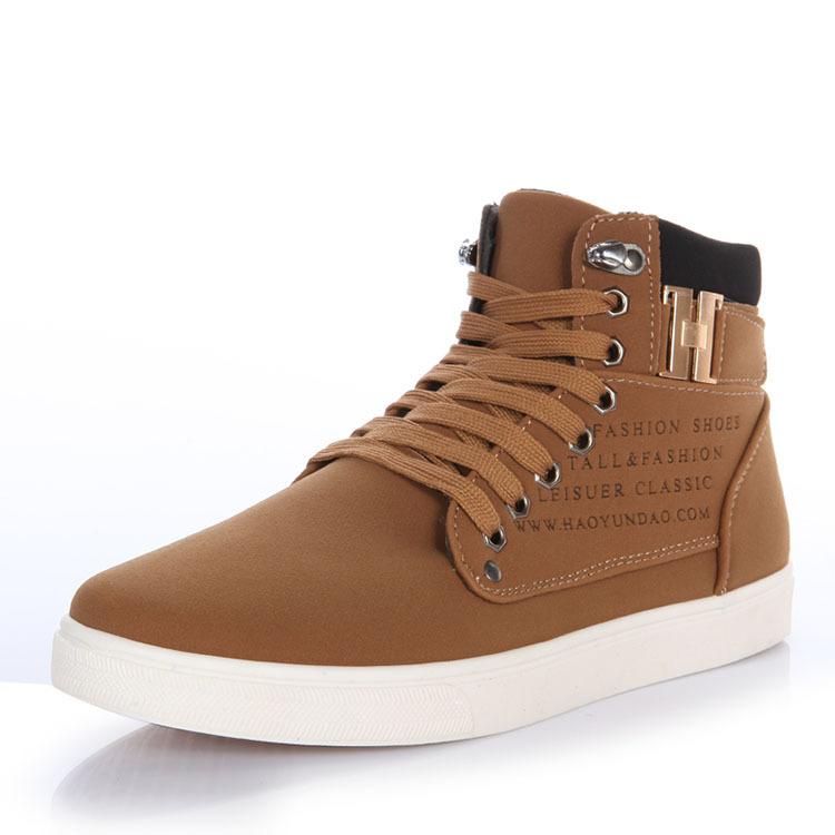 New 2015 Autumn Men Shoes High Top Casual Men's Fashion Sneakers European Style Design Men Sneakers Flats Male Footwear RME-012(China (Mainland))