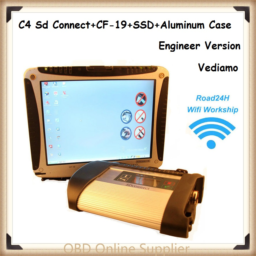CF19 + MB Star C4 SD Connect + SSD Xentry Engineer Version Diagnostics System Compact 4 Mercedes Diagnosis Multiplexer For Benz(China (Mainland))