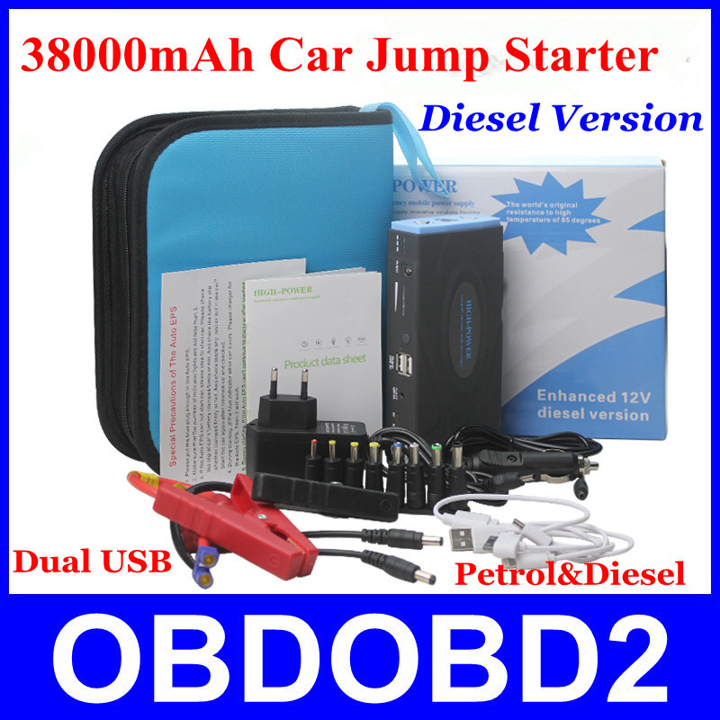 New Arrivals 38000mAh Car Jump Starter 12V Diesel Version Auto EPS Power Bank Multi-Function Works For Cars/Digital Products(China (Mainland))