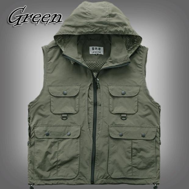 Wholesale mens womens outdoor photo vest jacket sleeveless for Mens sleeveless denim shirt wholesale