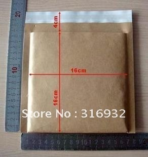 E3  Hot Sale 50 KRAFT Bubble Mailers Padded Envelopes 16*16+4cm For Sale