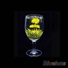 4 Balls Chinese Artisan Different Handmade Blooming Flower Green Tea 02M3