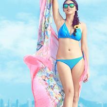 150*180cm Ladies Long Silk Satin Scarf 2016 New Luxury Brand Flower Infinity Scarves Women Designer Shawl Summer Beach Cover Up(China (Mainland))
