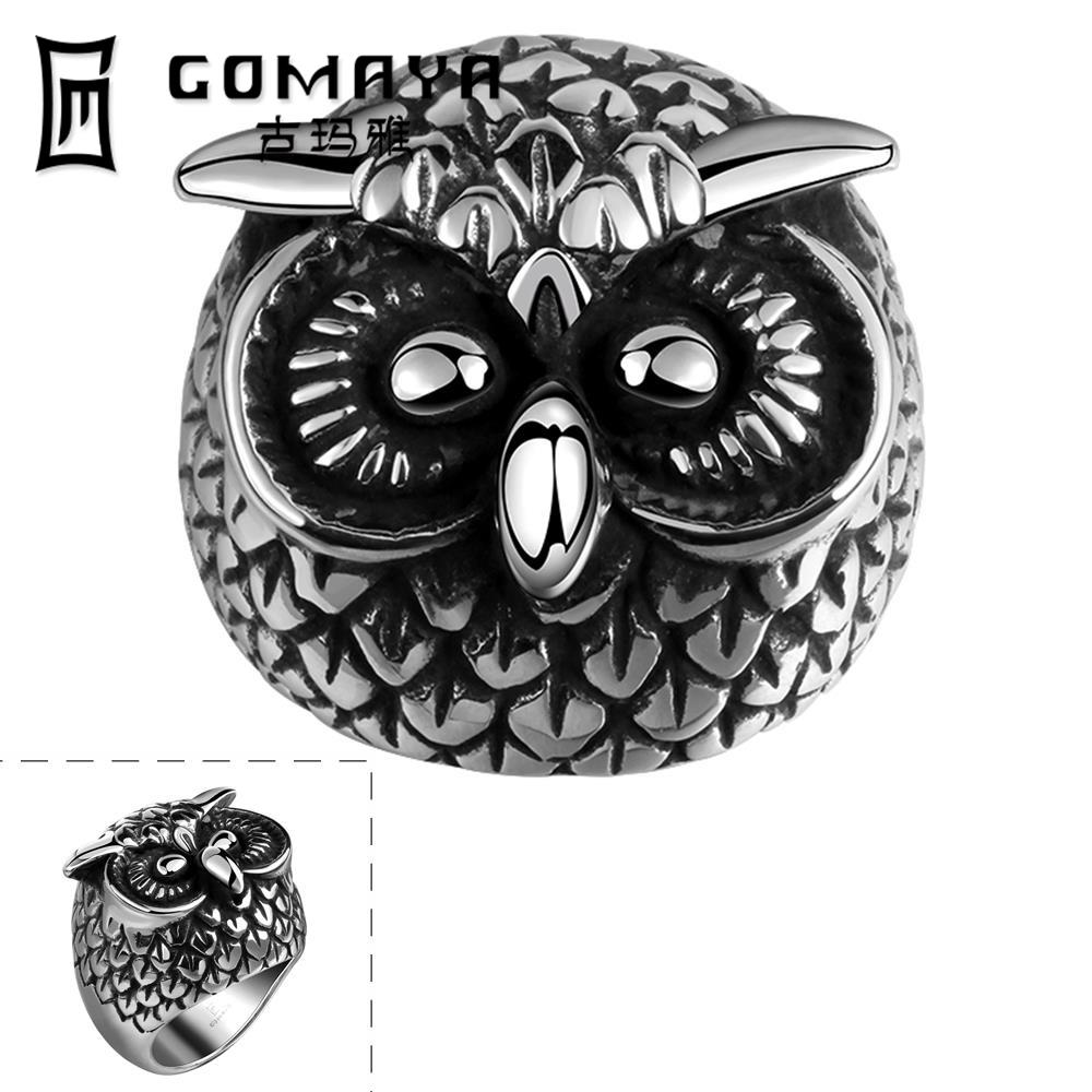 2016 Cool Personality Game Ancient Jewelry Stainless Punk owl Ring Python Cosplay Men Rings Cubic Zirconina Rings(China (Mainland))