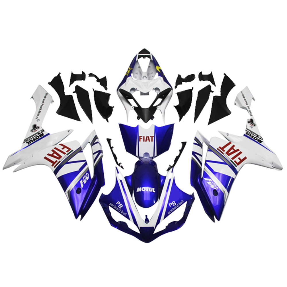Injection Fairings For Yamaha YZF1000 R1 07 08 2007 2008 ABS Motorcycle Fairing Kit Bodywork Cowling FIAT Blue White Moon Sun(China (Mainland))