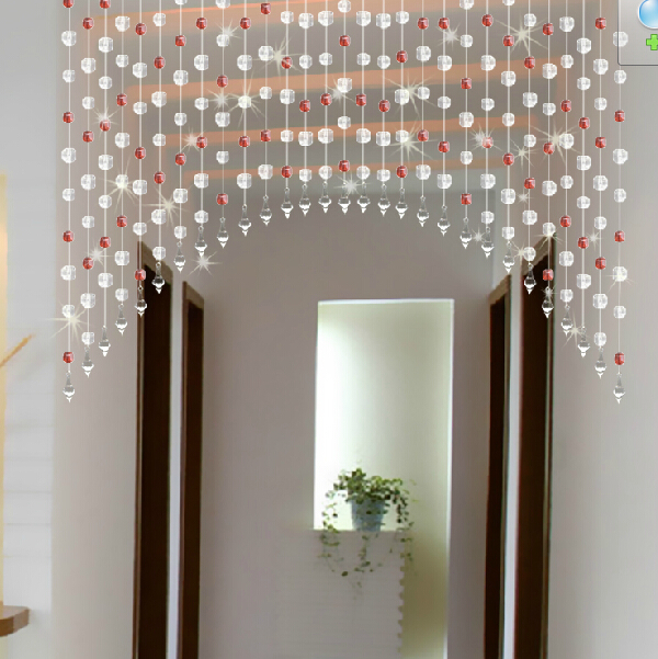 Beaded door curtains - Diy Acrylic Beads Curtain Window Door Curtain Wedding Backdrop Pink