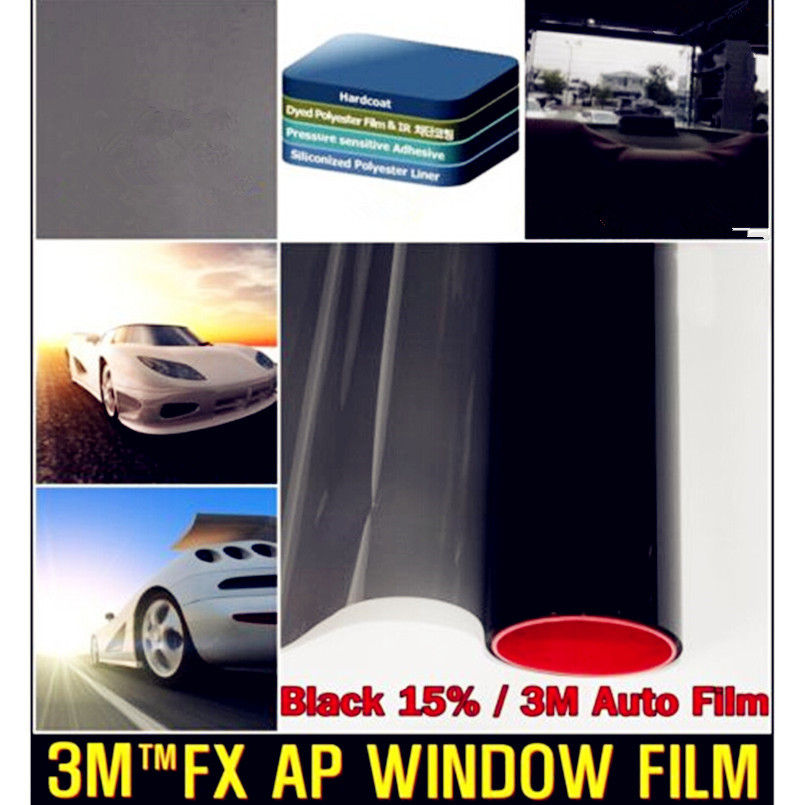 Genius 50x 300cm Dark Black Car Window Tint Film Glass VLT 5% 15% Roll 1 PLY Car Auto House Commercial Solar Protection Summer(China (Mainland))