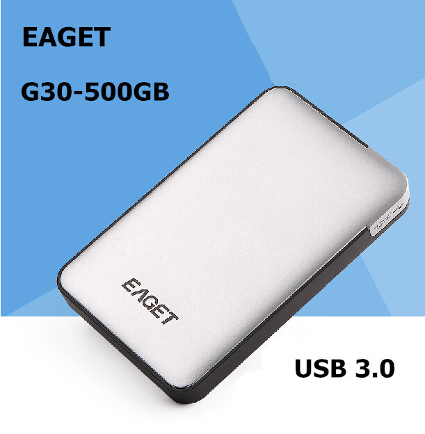 EAGET G30-500GB USB 3.0 High speed External Hard Drives portable Desktop and Laptop mobile hard disk genuine Free shipping(China (Mainland))