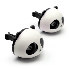 Car Styling Air Freshener 1 Set Car Air Conditioning Vent Perfume Panda Eyes Will Jump 5 Colors Parfume HA10660(China (Mainland))