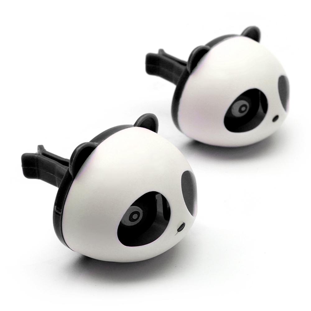 Car Styling Air Freshener 1 Set Car Air Conditioning Vent Perfume Panda Eyes Will Jump 5 Colors Parfume HA10660(China (Mainland))