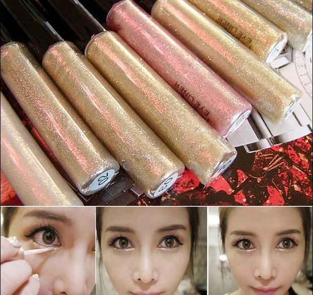Professional Cosmetics Shining Bronzer Gold Eye Shadow 7 Colors Eyeshadow Shimmer Glitter Shining Makeup maquiagem Free Ship(China (Mainland))