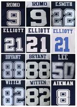 Mens High Quality 100% Stitched Color Blue Thanksgiving White Elite Throwback Jerseys(China (Mainland))