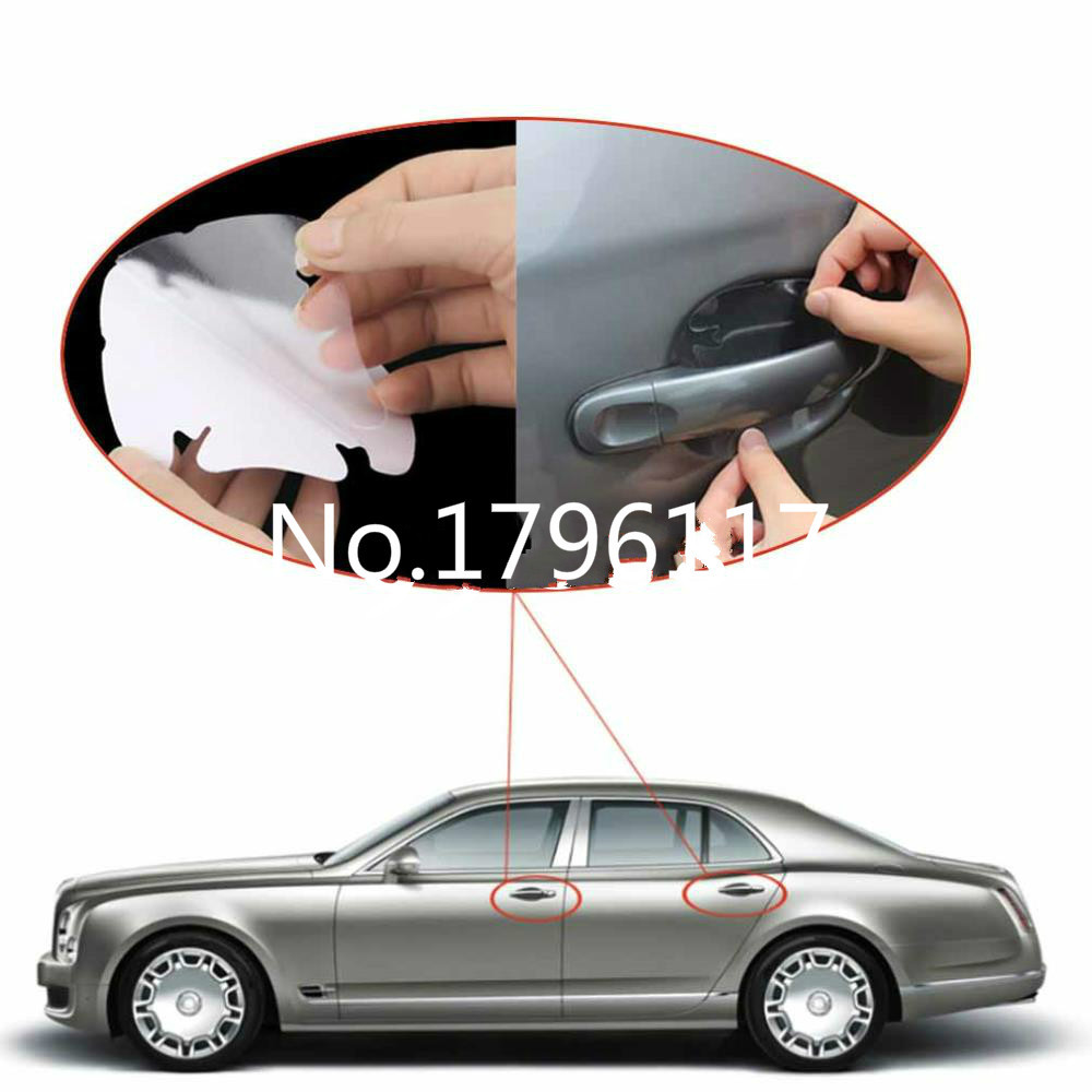 4pcs car styling Invisible Car Door Handle Scratches Automobile Shakes Protective Vinyl Protector Films car Handle Protective(China (Mainland))