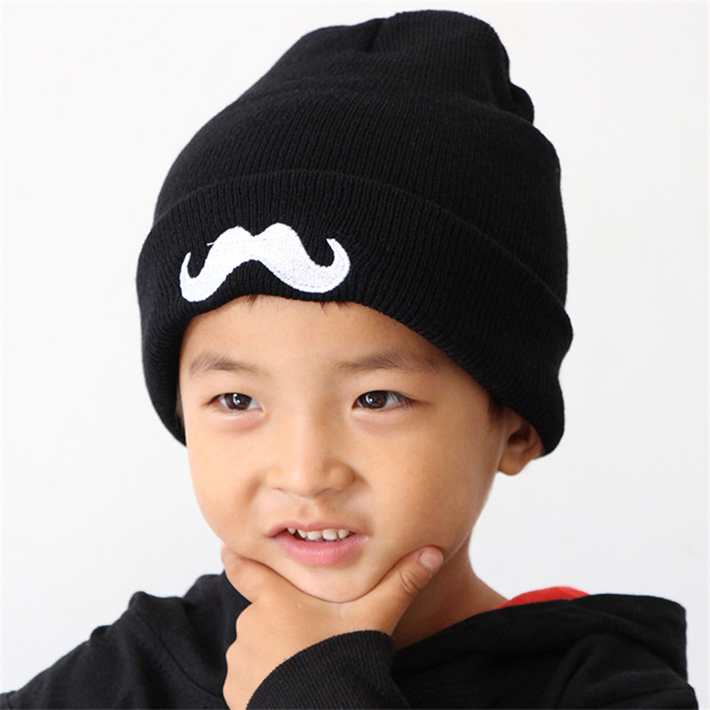 2016 Knit Baby Hat Girls Boys Toddler Infant Kids Hedging Caps Beard pattern Autumn Winter child cap Baby Beanies Accessories(China (Mainland))