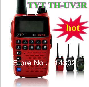 free shipping TYT TH-UV3R Dualband 136-174/400-470MHz HT Two Way Radio walkie talkie Mini Compact Size THUV3R