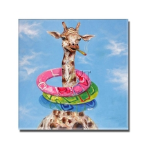 Buy Framed Framed Painting Funny Deer Photo Modern Living Room Decoration Hand painted Canvas Pictures Big Size for $10.35 in AliExpress store