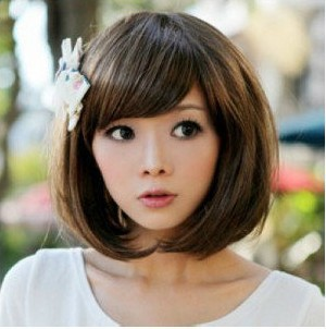 !,Lady's Heat Resistant Synthetic Hair Brown Short Bob Wig Caps Cosplay Anime Wigs Black Women - H&C Fashion Store store