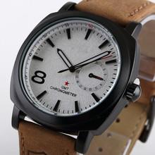 2014 nueva moda Business reloj de cuarzo hombres relojes deportivos relojes militares hombres Corium ejército correa de cuero reloj de pulsera
