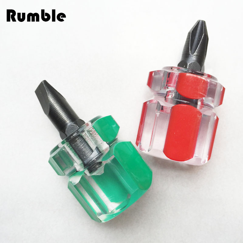 New High Quality Portable Mini Stubby Philips + Slotted / Flat Screwdriver Set Durable Small Steel Repair Tool Easy To Carry(China (Mainland))