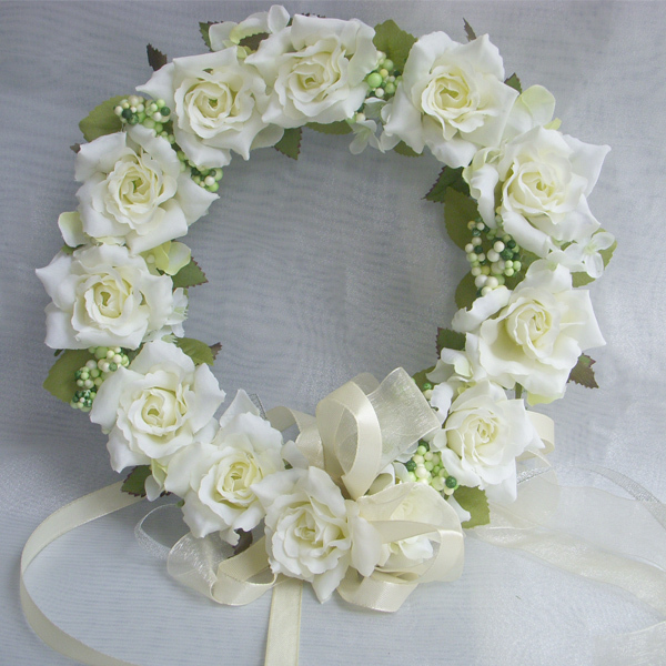 Artificial Decorative Flowers Wreaths Crown of Flowers Silk Rose For Wedding Decoration Rim to hair With Flowers Ornaments(China (Mainland))