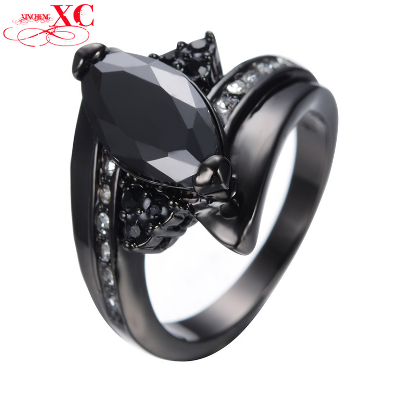 Size 6/7/8/9/10/ Black Gold Filled Horse Eye Ring Anel Anies Wedding Engagement Ring For Women Bridal Bohemian Anel Anies RB0403<br><br>Aliexpress