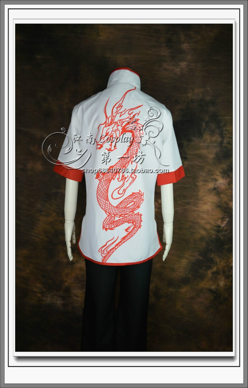 LOL Dragon Fist Lee Sin Cosplay Costume China Tang suit style(China (Mainland))