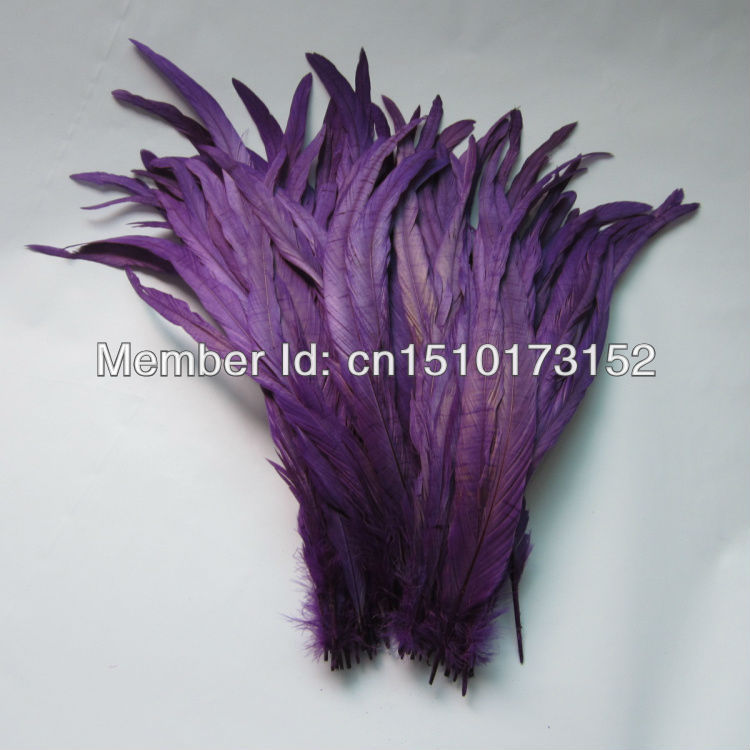 10s 14-16''/35-40cm Purple Dyed Loose Cock Tail feathers decoration Crafts GJ2-6  -  TiTi Feather Market store