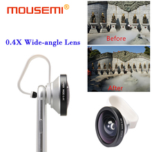 Buy Universal Clip Super Wide 0.4x Lenses Wide-Angle Lens Cell Mobile Phone 0.4X Wide Angle Lenses iPhone 5s 6s 7 Smartphone for $6.52 in AliExpress store