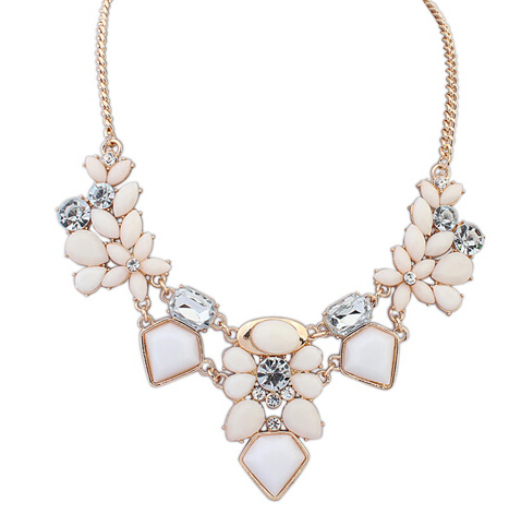 2015 New Arrival Resin Fashion Colorful Cute Charm Gem Flower Necklaces & Pendants Fashion Jewelry Woman Gift Summer style 749(China (Mainland))