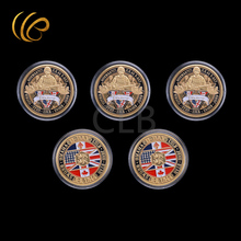 American Gold Coin 6.6 1944 D.day Custom Challenge Coins Plastic Case Souvenirs Home Decor - World CoinBanknote Store store