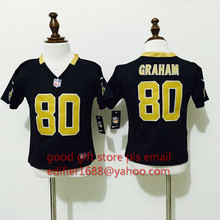 100% stitched baby New Orleans Saints toddler 9 Drew Brees 80 Jimmy Graham Embroidery Logos size S to L,camouflage(China (Mainland))