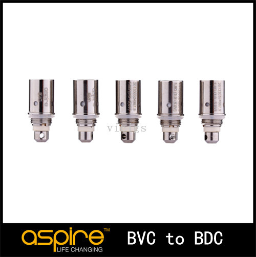 50pcs/lot 1.6ohm/1.8ohm/2.1ohm replacement Coil for Aspire BvC Atomizer bottom dual coil replacement coils<br><br>Aliexpress