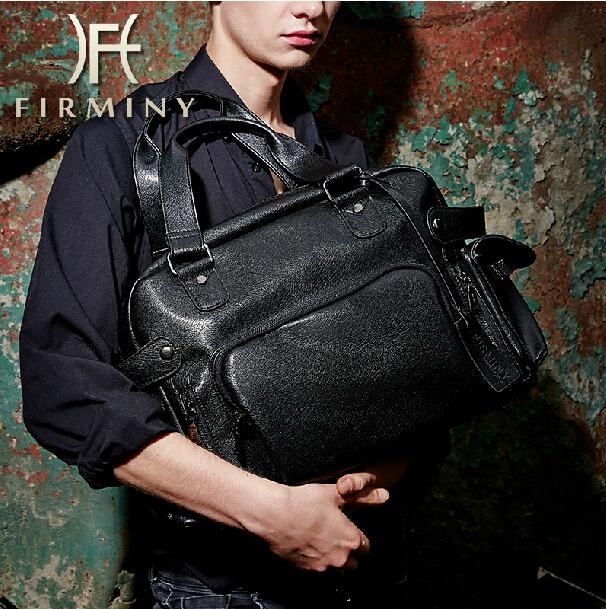 Здесь можно купить  Famous brand leather briefcase men messenger bags shoulder handbag portfolio weekend bag travel duffle 14
