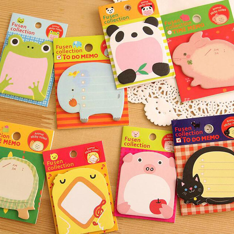 4PCS/Lot Cute Animals Sticker Post It Bookmark Point Mark Flags Sticky Notes Random Style<br><br>Aliexpress