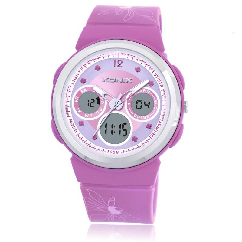 Xonix brand waterproof 100m watch boys girls children kids students watches g style shock for Watches brands for girl