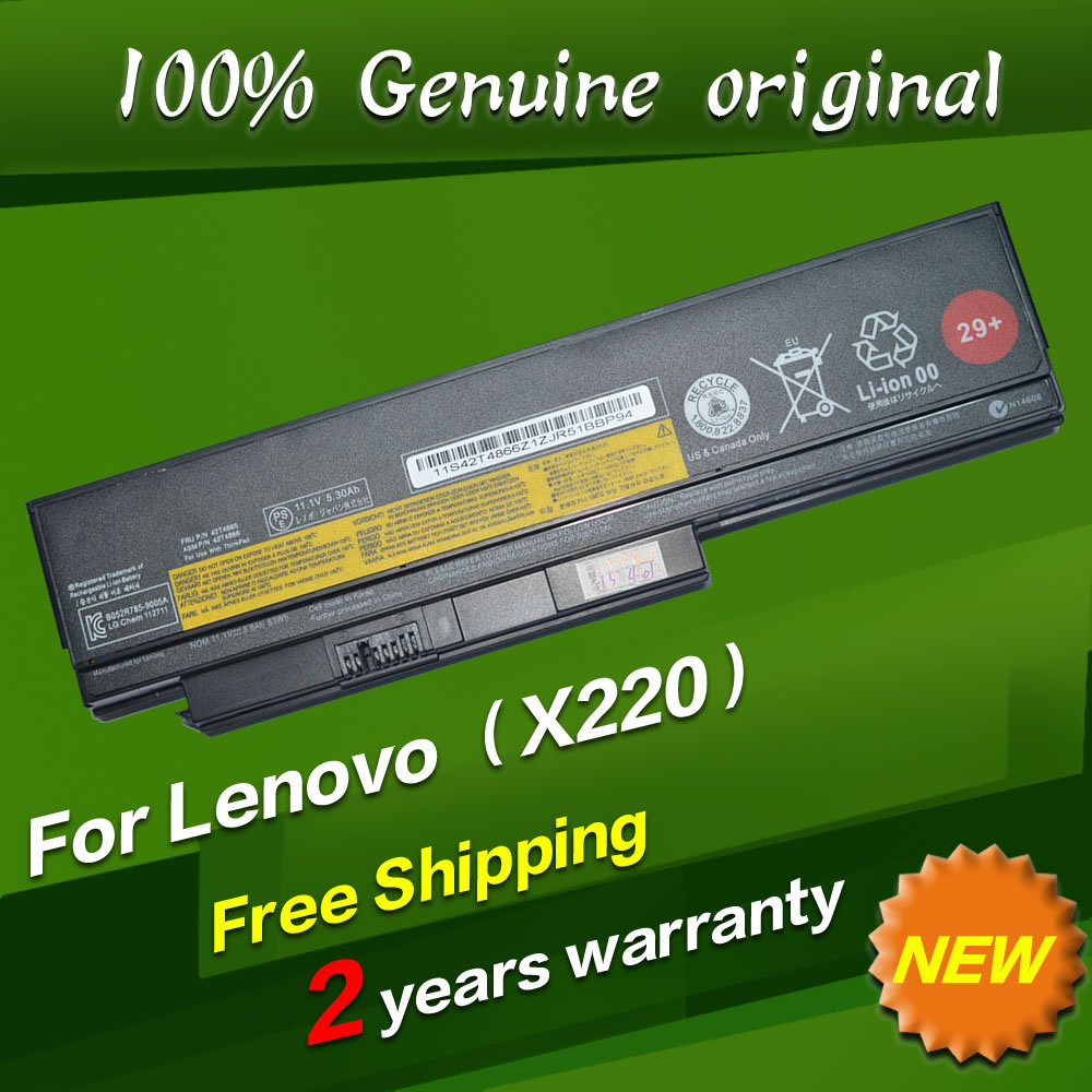 Free shipping 42T4861 42T4862 42T4873 42Y4874 Original laptop Battery For Lenovo ThinkPad X220 x220s x220i 11.1V 5.6AH 63WH