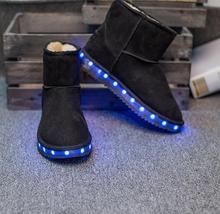 Original verdadero de australia marca botas para la nieve zapatos de Invierno botas de nieve resplandeciente de luz LED de luz cálida zapatos zapatos de carga USB(China (Mainland))