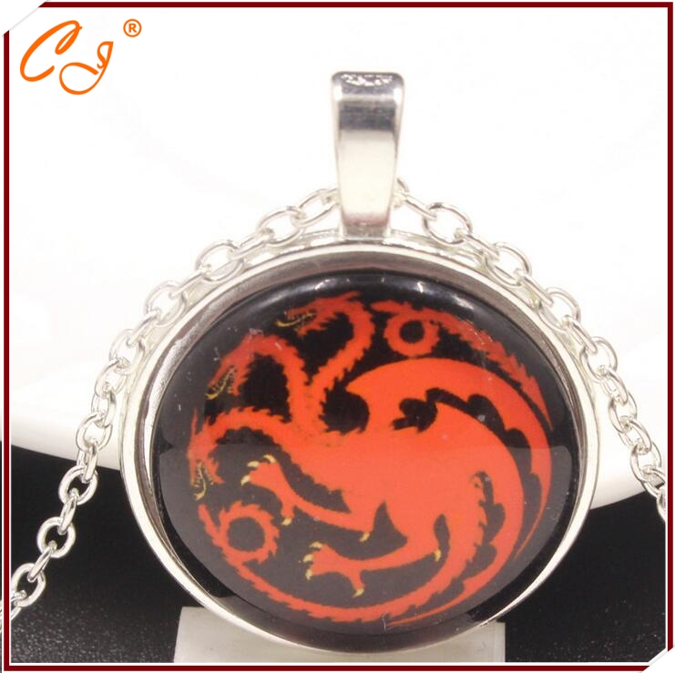 The film and television peripheral accessories power game Targaryen song of ice and fire dragon necklace pendant sautoir(China (Mainland))