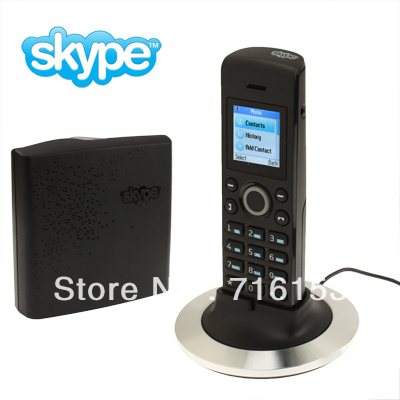 Dual-model No PC Required Cordless Skype and Landline Phone, Support Two Skype Account Login, Wireless transmission range: 50M(China (Mainland))