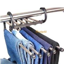 1PC Magic Trousers Hanger Pants Closet 5 in 1 Practical and Convenient (China (Mainland))