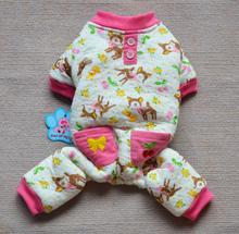 Pajamas for Small Dogs WARM Pet Puppy Cat Pyjamas Pjs Dog Clothes XS S M L XL(China (Mainland))