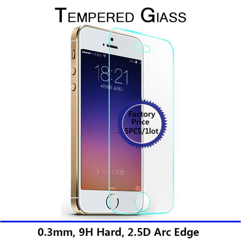 Гаджет  5pcs/1lot Tempered Glass Screen Protector Film For Apple iphone 5 5S 5C.Anti Shatter Film For iPhone5s Guard 9H Anti-Scratch None Телефоны и Телекоммуникации