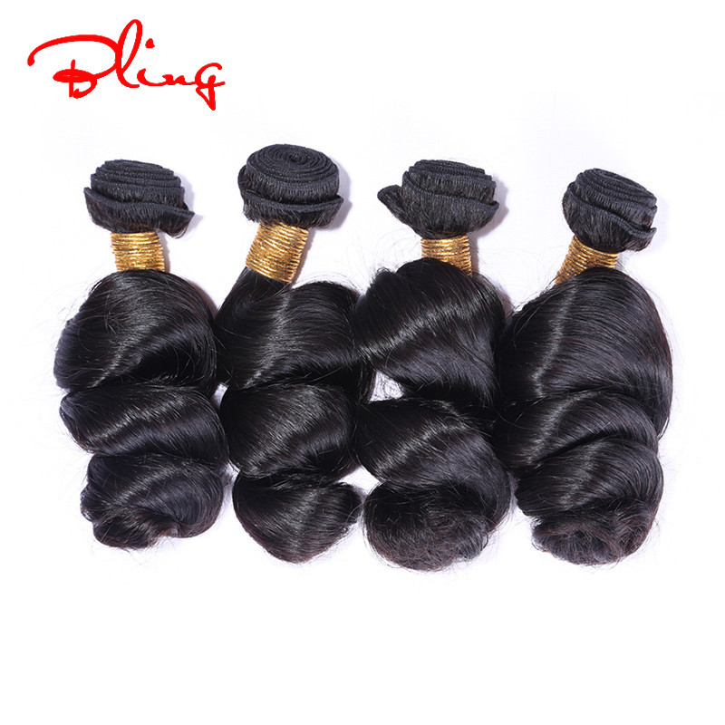6A Rosa Hair Products Brazilian Loose Wave Virgin Hair Unprocessed Brazilian Virgin Hair loose Wave 3pcs human Hair Weave