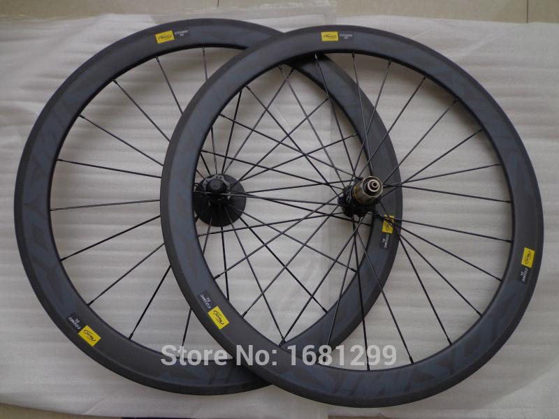 Гаджет  New black MAVIC COSMIC SL 700C 50mm clincher rims Road bike matt 3K full carbon bicycle wheelsets 20.5 23 25mm width Free ship None Спорт и развлечения