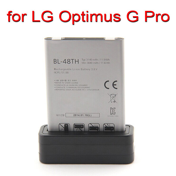 ( 2 piece / lot ) New USB Battery Cradle Dock charger for LG Optimus G Pro F240 F240K E980 F240S F240L BL-48TH Battery