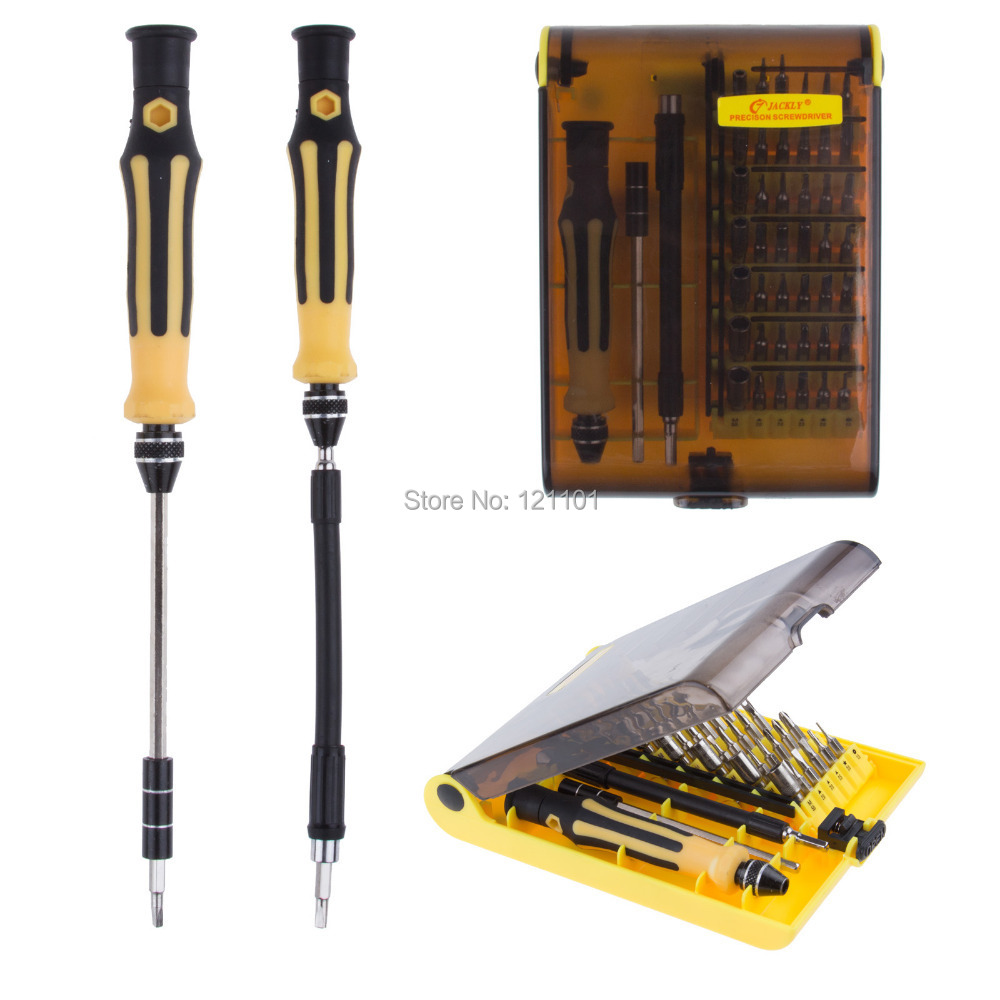 New 45 in 1 Precision Screwdriver Set Phillips Torx Slotted Hex Key Security Bits for Electronic Free Shipping(China (Mainland))